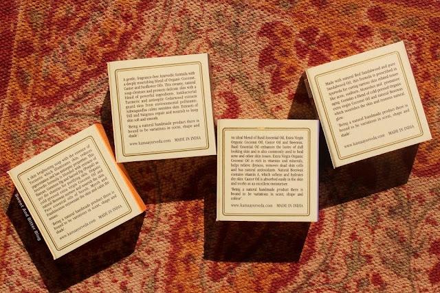 Kama Ayurveda Limited Edition Turmeric/Haldi, Coconut/Nariyal, Basil/Tulsi, and Chandan/Sandalwood Soap