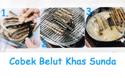 gambaran cara memasak cobek belut