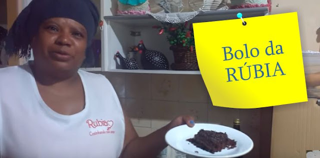 Bolo de chocolate da Rúbia