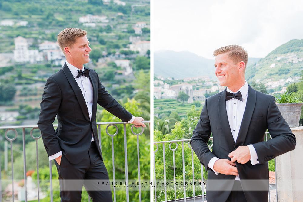 Groom portraits in Ravello