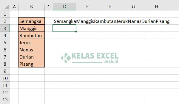 Cara menggabungkan kolom excel 4