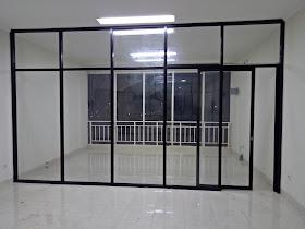 partisi kaca aluminium,pintu kaca aluminium sliding