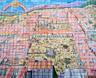 Mapa de Cusco Feito com Azulejos