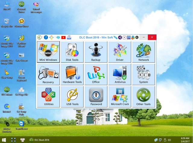 DLC Utilities Boot CD 3.2 2016 + Mini Win Xp y Mini Win 10