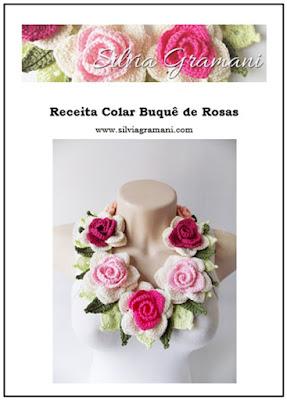 Colar Buquê de Rosas