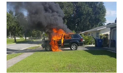 Jeep was burned by Galaxy Note 7