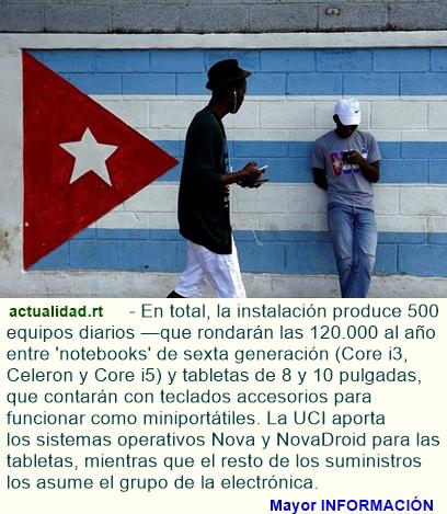 Cuba inaugura su primera fábrica de computadoras portátiles