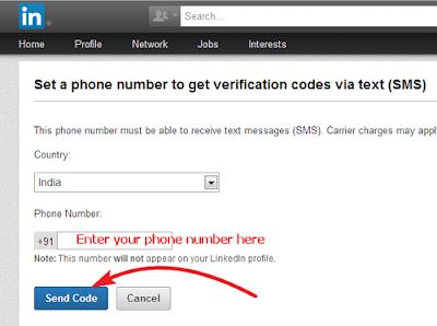 LinkedIn Send Code