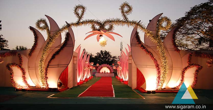 Wedding and reception indoor outdoor entrance arch decoration in the arch can be wrapped with greenery artificial or fresh flowers fabric or lights we also provide extra accessories such as beading small mirrors junglespirit Choice Image