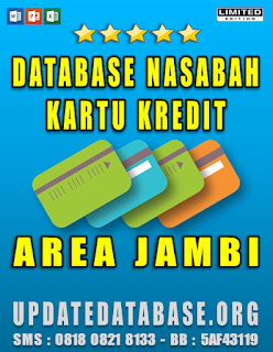Jual Database Nasabah Kartu Kredit Jambi
