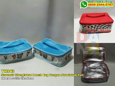 Souvenir Ulangtahun Lunch Bag Dengan Aluminium Foil