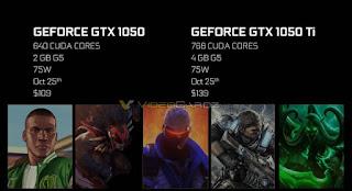 Spesifikasi Harga GeForce GTX 1050 dan GTX 1050 Ti