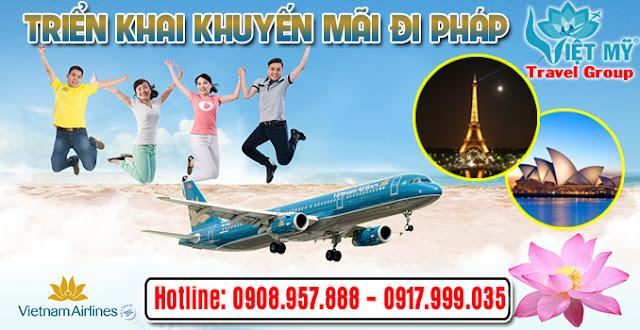 Vietnam Airlines triển khai giá khuyến mãi đi Pháp và sửa đổi giá mùa đi Úc