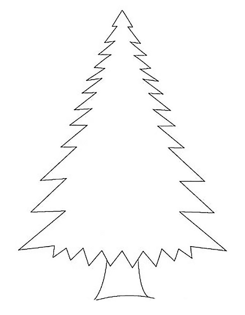 Gambar Mewarnai Pohon Cemara - 5