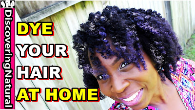How to DYE Hair AT HOME | New Natural Hair Color | Purple Hair Dye  DiscoveringNatural