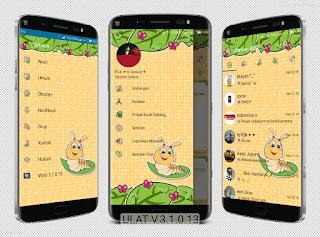Download BBM Mod Ulat v3.1.0.13 Apk Unclone Terbaru