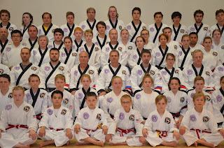 Martial artists at MSK Black Belt Symposium in Granby, CO