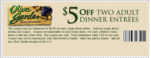 Olive Garden Printable Coupons November 2017 - Printable ...
