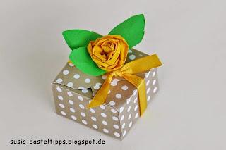 Stampin Up Baumwollpapier als Rose gedreht