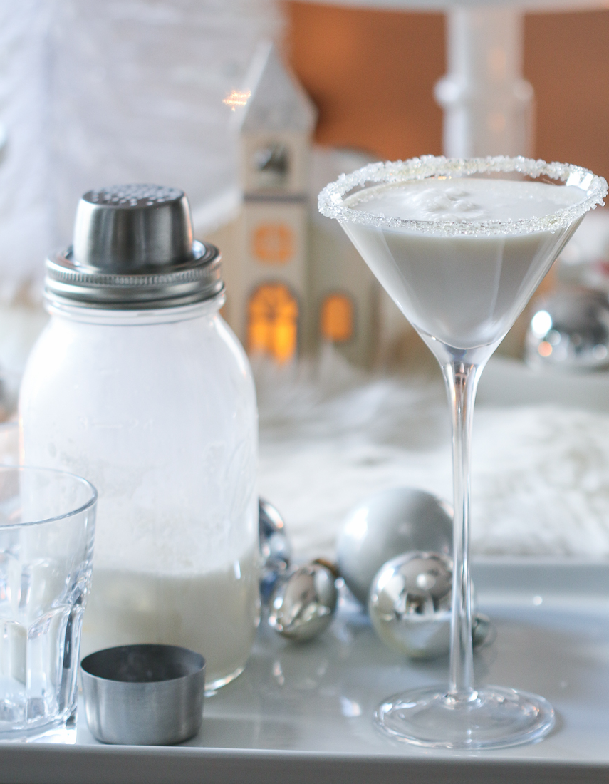 Inspired by Charm White Christmas Martini