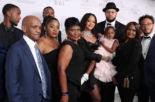 Rihanna's Family at the 3rd Diamond Ball