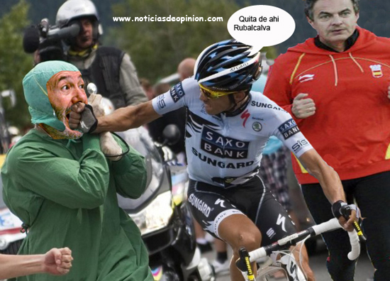 Humor. Fotos de Alberto Contador: Photoshop.
