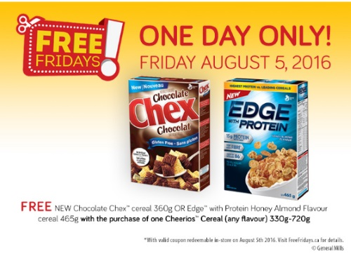 Chocolate Chex or Edge Free Cereal Coupon