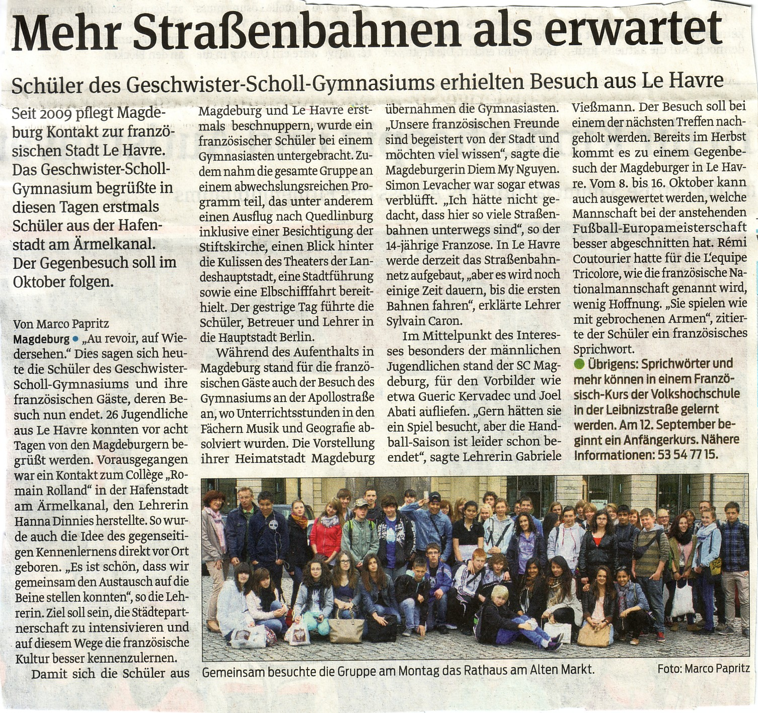 article allemand presse
