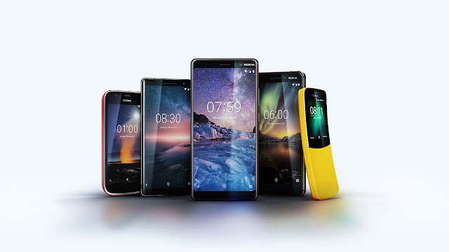 Introducing 5 New Nokia Phones @NokiaMobile #HMD2018 #MWC18 #Android