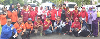DPW PPNI Lampung bersama Tim dalam kunjungan korban bencana alam Tsunami di Lampung Selatan
