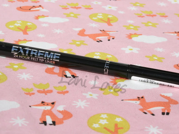 Collection Extreme 24 Hour Felt Tip Liner - Black Swatches & Review