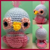 Pájaro Dudley amigurumi