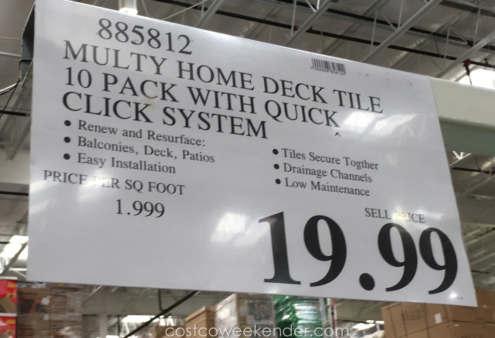 Deal For The Multy Home Deck Tile At Costco