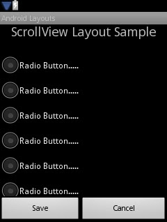 Android ScrollView Graphical View