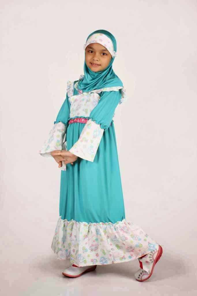 20 Model Baju Muslim Lebaran Anak Perempuan Terbaru 2017