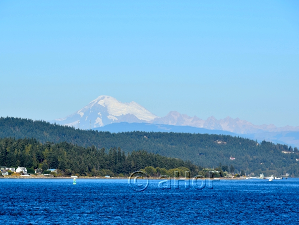Mt. Baker seen from the Ferry
