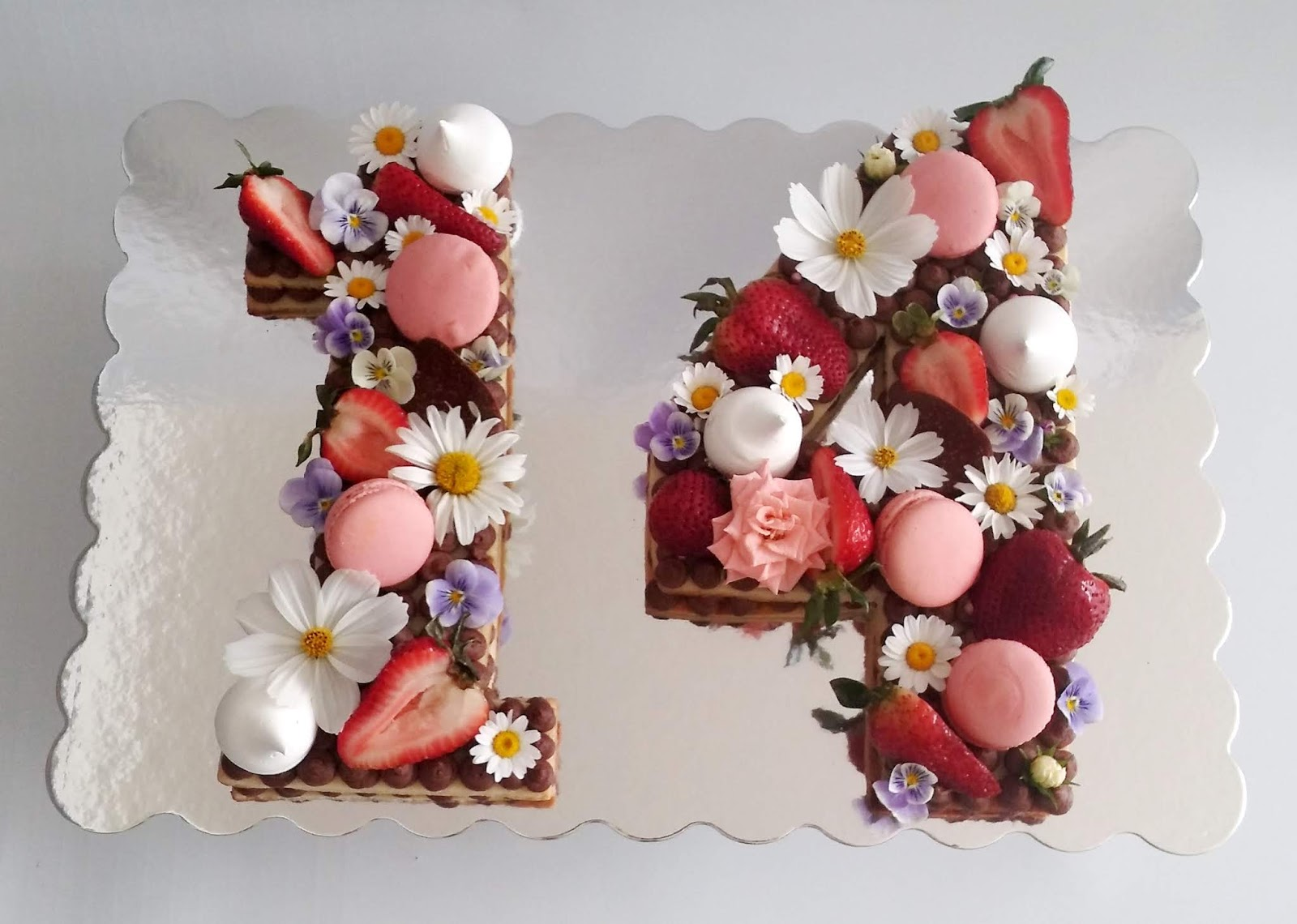 The Cream Of This Cake Is Made Out Mascarpone Decorations Are Fresh Flowers Macaroons Meringues Strawberries And Last But Not Least
