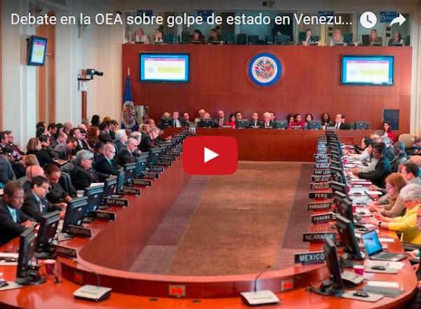 Debate en Vivo desde la OEA sobre el Golpe de Estado - 3 de Abril