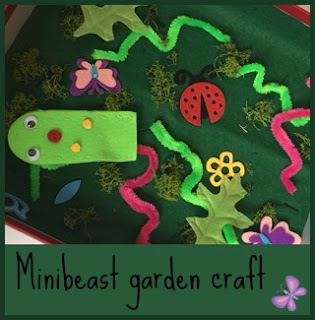 Making a mini beast garden craft for children