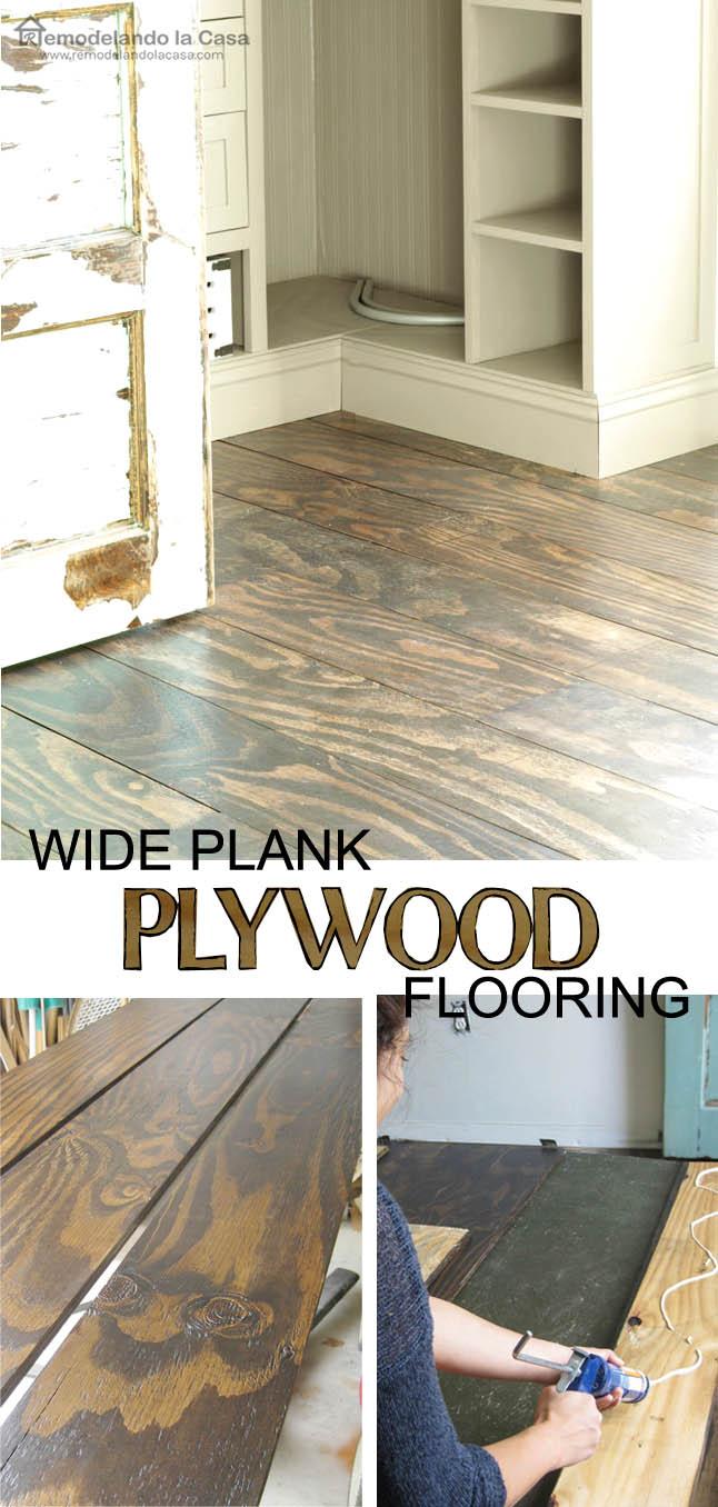 Diy Plywood Floors Remodelando La Casa
