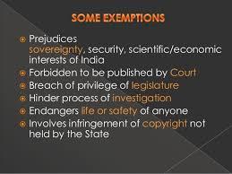 rti exemptions