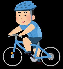 サイクリングのイラスト(アジア人男性)
