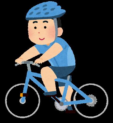 サイクリングのイラスト(男性)