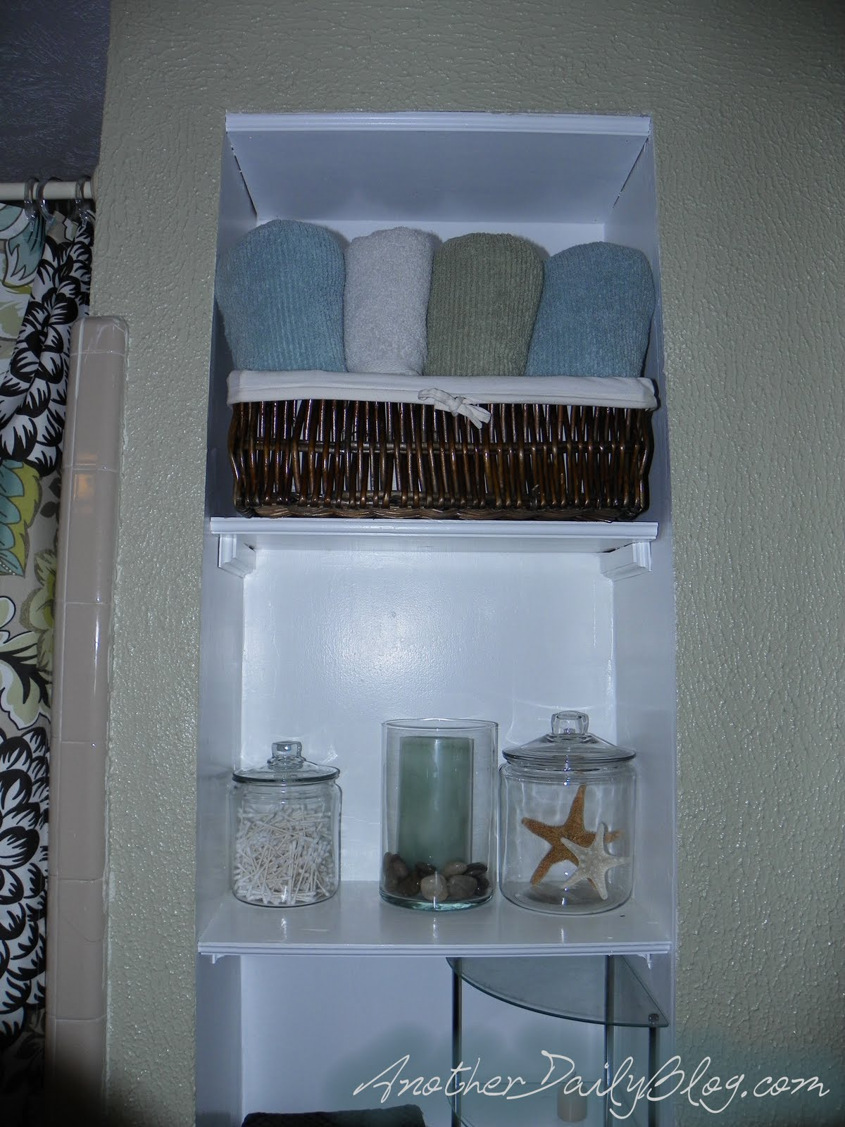 Another Daily Blog Pottery Barn Inspired Glass Bathroom
