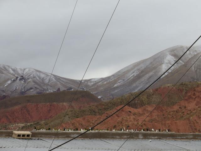 auf den Höhen um Esmoraca herum hatte es in der Nacht etwas geschneit