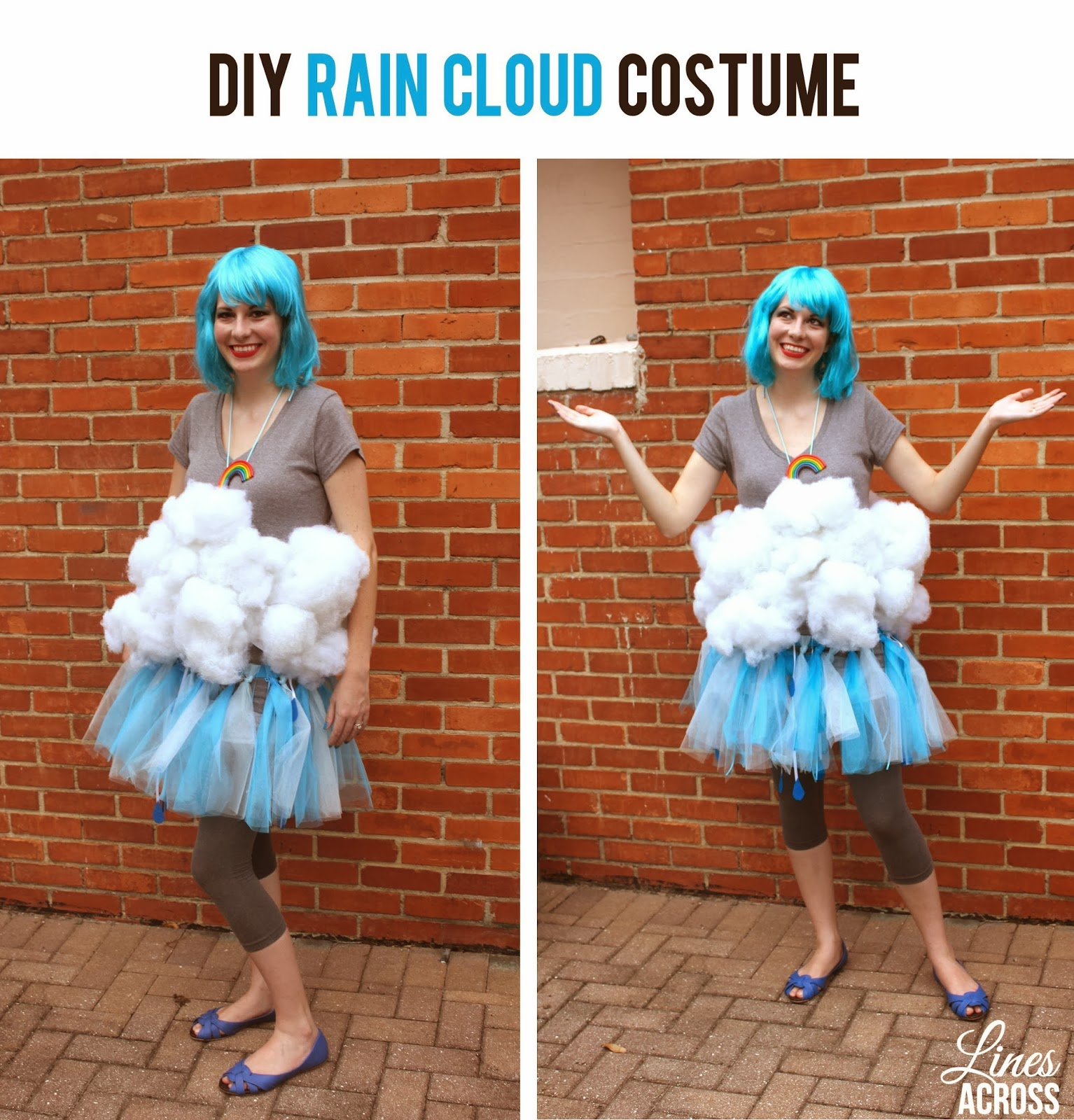 DIY Fire and Rain Costumes - Lines Across