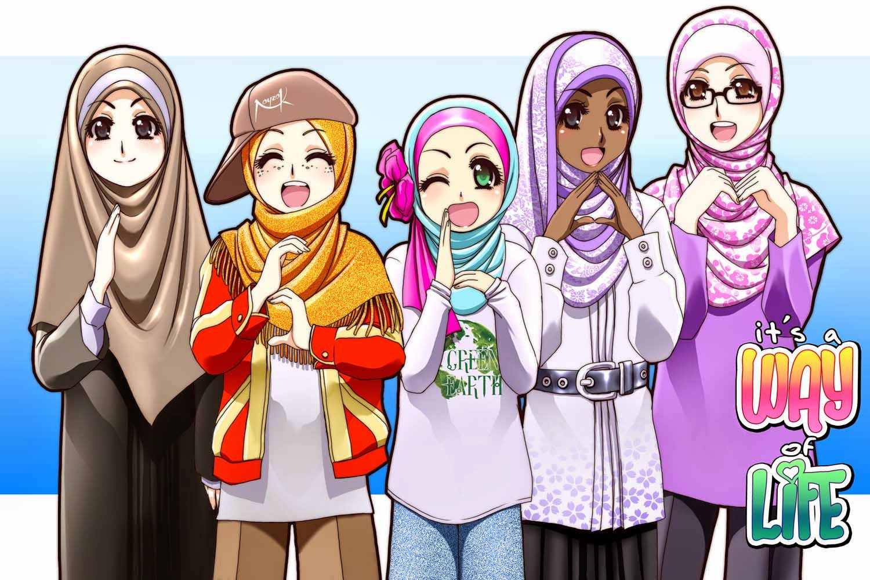 Kumpulan Gambar Kartun Muslimah Bertiga Kantor Meme