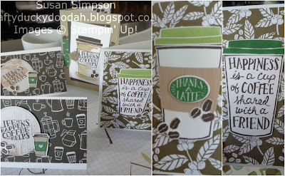 #lovemyjob, #stampinupuk, Coffee & Cards project April 2018, Coffee Cafe, Craftyduckydoodah!, Stampin' Up! UK Independent  Demonstrator Susan Simpson, Supplies available 24/7 from my online store,