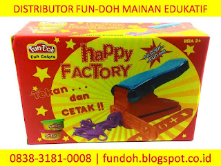 Fun-Doh Happy Factory, fun doh indonesia, fun doh surabaya, distributor fun doh surabaya, grosir fun doh surabaya, jual fun doh lengkap, mainan anak edukatif, mainan lilin fun doh, mainan anak perempuan