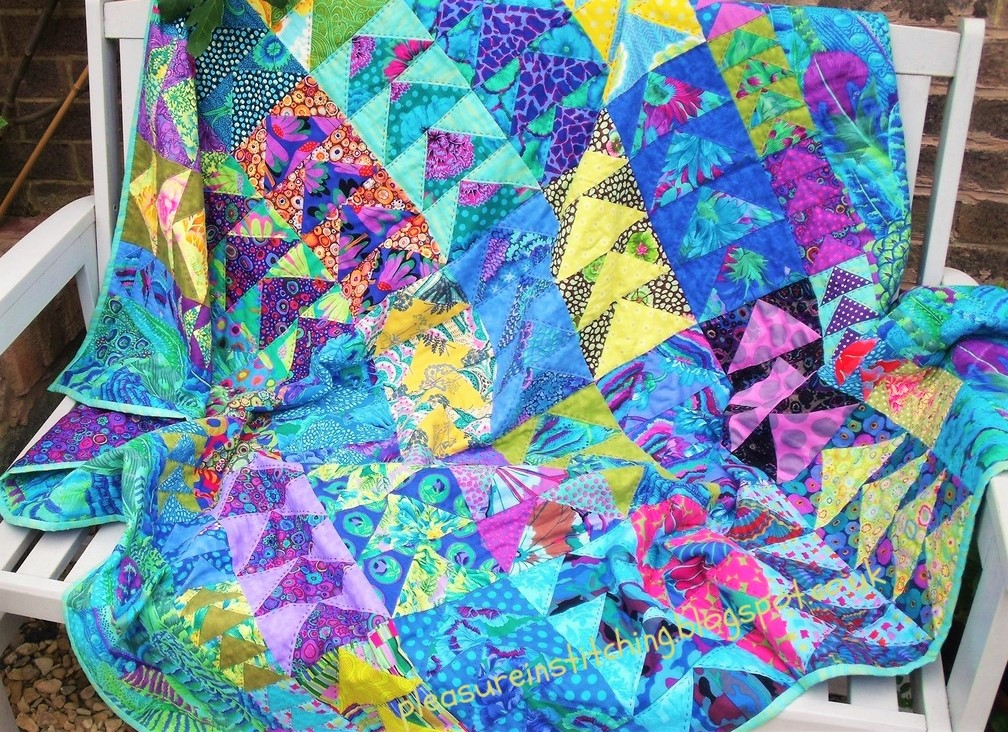 Cool Flying Geese Quilt